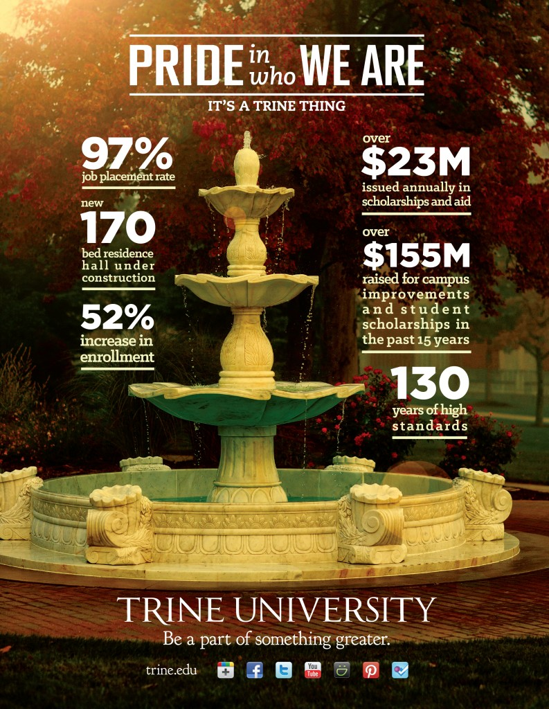 Trine University Business People Magazine Ad